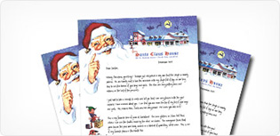 Santa letters from north pole since 1952 santa claus house the original letter from santa has been a holiday tradition for generations spiritdancerdesigns Images