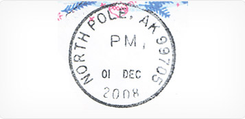 Genuine North Pole Postmark