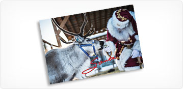Keepsake Photo of Santa Claus